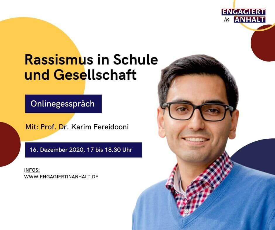 Engagiert in Anhalt – Demokratiewochen 2020 – Onlinegespräch Rassismus