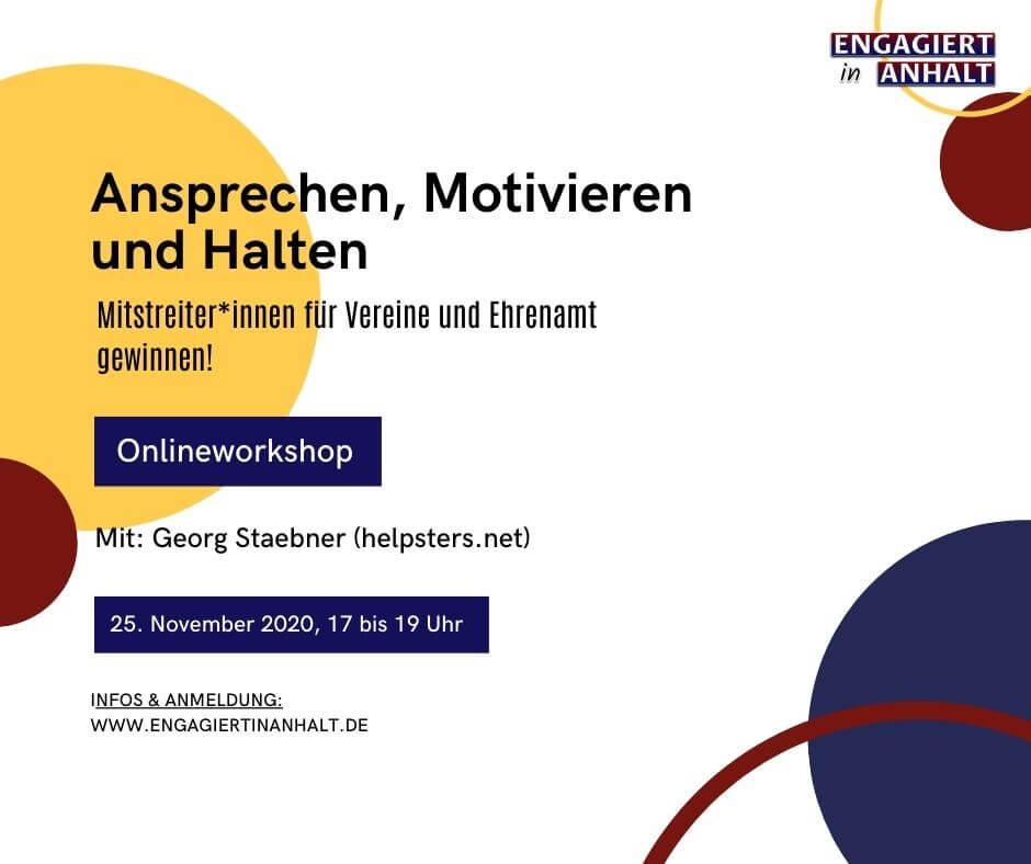 Engagiert in Anhalt – Demokratiewochen 2020 – Workshop Jugendbeteiligung