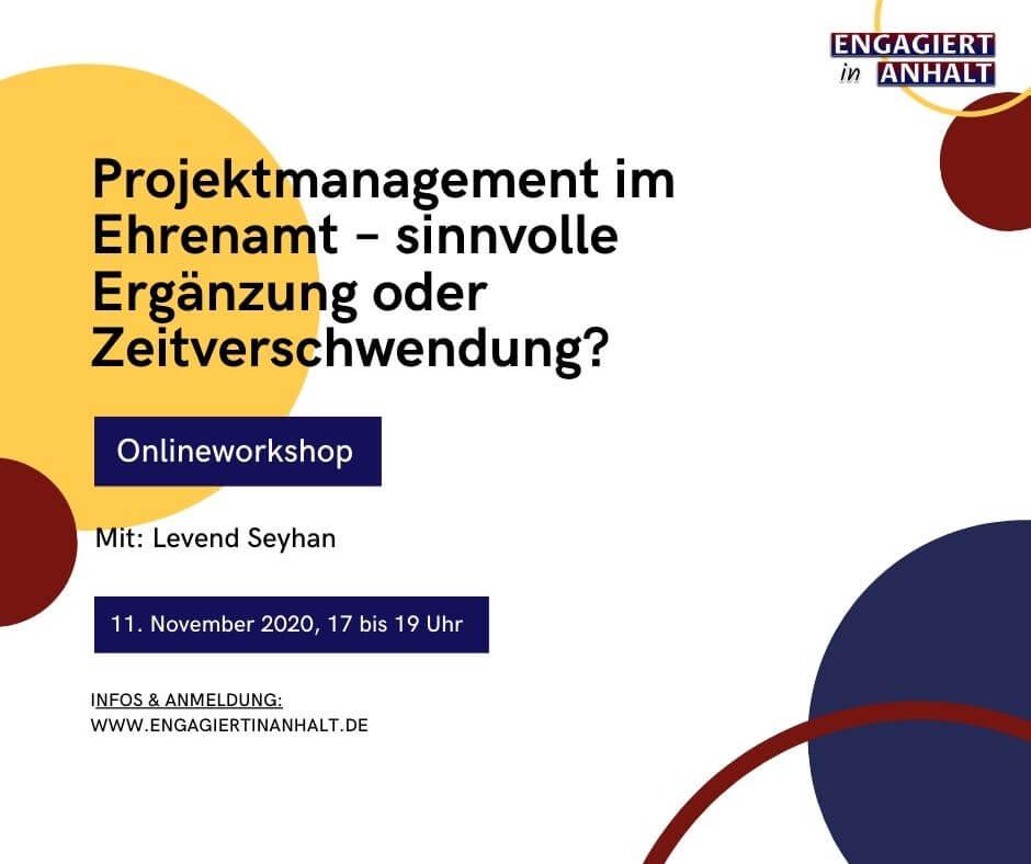 Engagiert in Anhalt – Demokratiewochen 2020 – Workshop Projektmanagement
