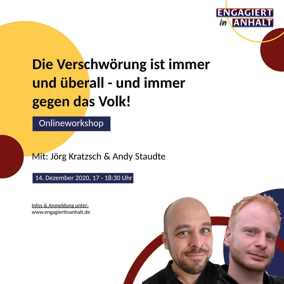 Engagiert in Anhalt – Demokratiewochen 2020 – Workshop Verschwörungstheorien